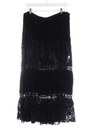 Biba Maxirock schwarz extravaganter Stil