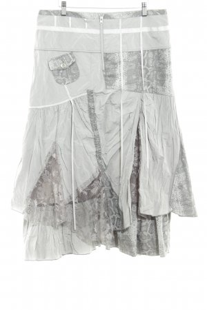 Biba Midi Skirt silver-colored extravagant style