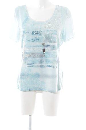 Biba Print-Shirt türkis Motivdruck Street-Fashion-Look
