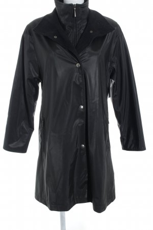 Biba Heavy Raincoat black street-fashion look