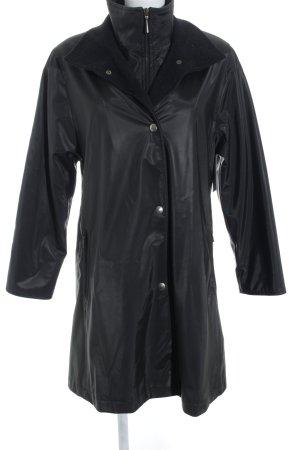 Biba Zware regenjas zwart straat-mode uitstraling