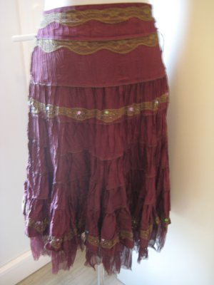 Biba Crash Skirt purple polyester