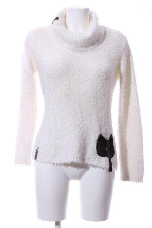 Biba Turtleneck Sweater white-black casual look