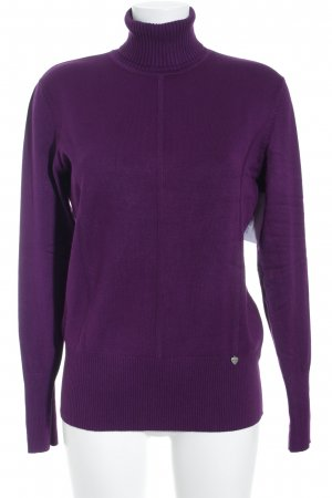 Biba Turtleneck Sweater brown violet casual look