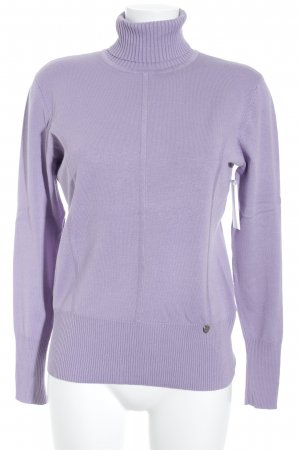 Biba Turtleneck Sweater lilac casual look