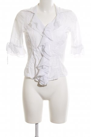 Biba Ruffled Blouse white business style