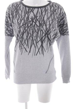 Biba Crewneck Sweater light grey-black abstract pattern casual look