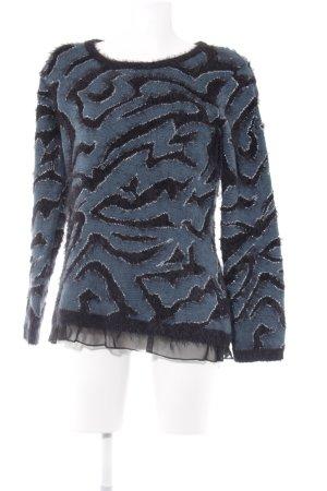 Biba Kraagloze sweater veelkleurig pluizig