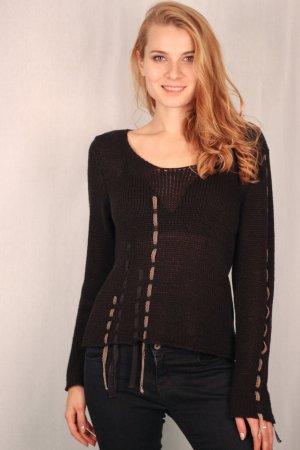 Biba - schwarzer Pullover Gr.38 (36)