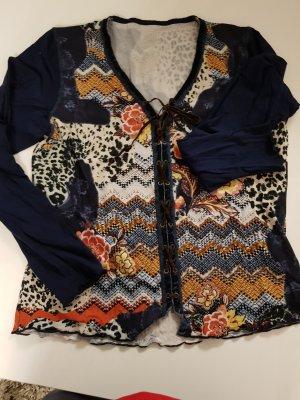 Biba Camisa con cuello V multicolor