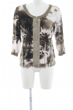 Biba Shirt Jacket bronze-colored-white themed print casual look