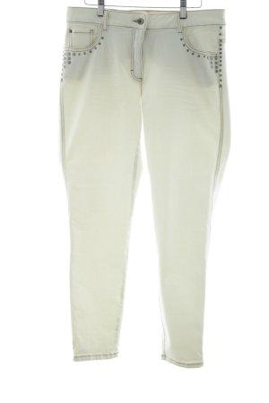 Biba Slim Jeans weiß Street-Fashion-Look