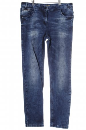Biba Slim Jeans dark blue-light blue batik pattern casual look