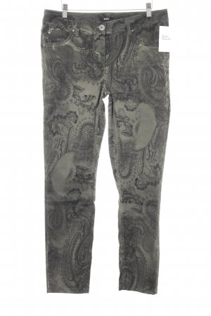 Biba Slim Jeans khaki-black ethnic pattern casual look