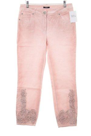 Biba Slim Jeans pink floral pattern casual look