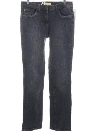 Biba Slim Jeans schwarz schlichter Stil