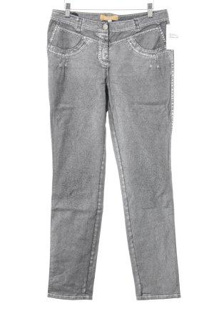 Biba Jeans slim fit argento-nero stile casual