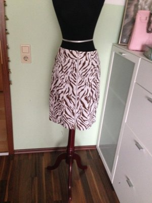 Biba Pencil Skirt white-brown mixture fibre