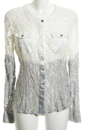 Biba Lace Blouse white-light grey color gradient extravagant style