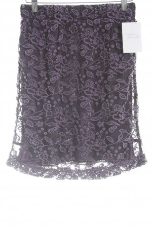 Biba Lace Skirt lilac floral pattern lace look