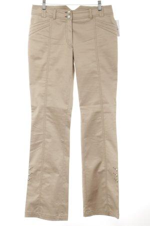 Biba Pantalone jersey beige stile casual