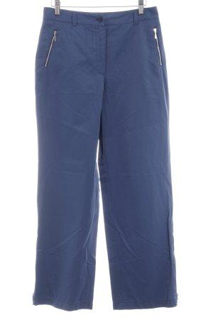 Biba Pantalón tipo suéter azul elegante