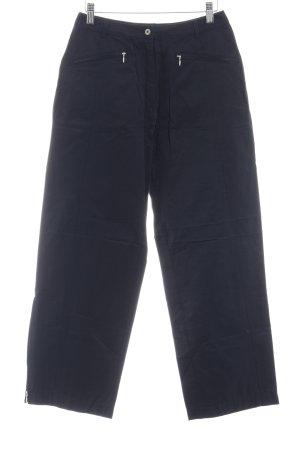Biba Pantalón tipo suéter azul oscuro elegante