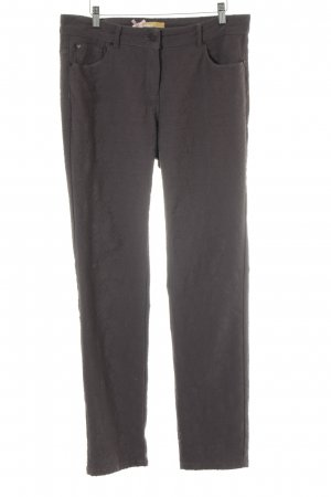 Biba Pantalone jersey grigio scuro motivo floreale stile casual