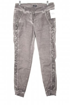 Biba Pantalone jersey marrone-grigio-bianco sporco stile casual