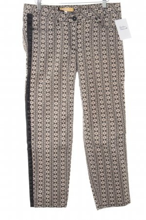 Biba Jersey Pants black-beige abstract pattern casual look
