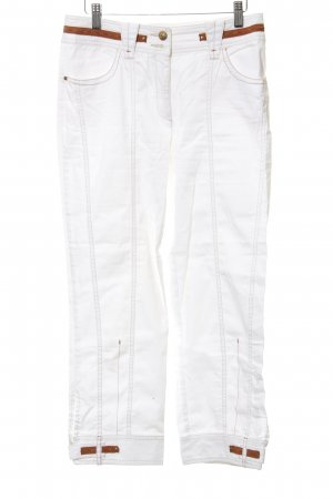 Biba Jersey Pants white-cognac-coloured casual look