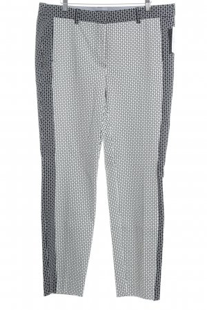 Biba Jersey Pants white-black abstract pattern extravagant style