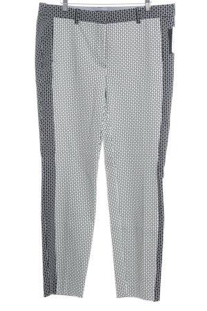 Biba Stoffhose weiß-schwarz abstraktes Muster extravaganter Stil
