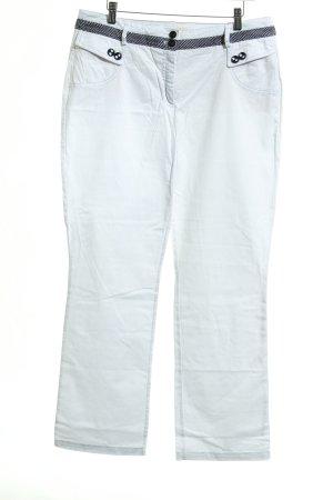 Biba Pantalone jersey bianco-nero stile casual