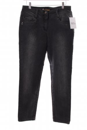 Biba Straight-Leg Jeans anthrazit Leomuster Casual-Look