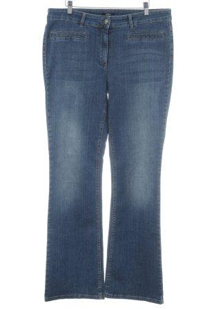Biba Jeans a gamba dritta blu stile casual
