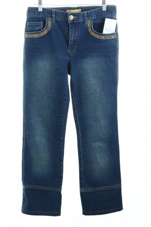 Biba Straight-Leg Jeans blau-goldfarben Casual-Look