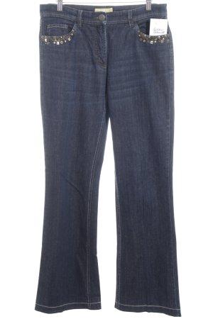 Biba Jeans met rechte pijpen donkerblauw Boho uitstraling