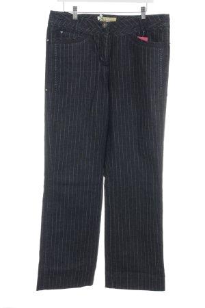 Biba Vaquero rectos gris pizarra-azul pálido estampado a rayas look casual