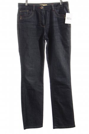 Biba Stretch Jeans dark blue-red simple style