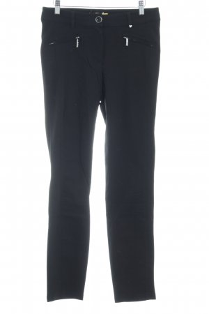 Biba Pantalone elasticizzato nero stile casual