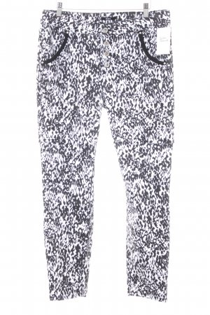 Biba Stretch Trousers black-white leopard pattern extravagant style