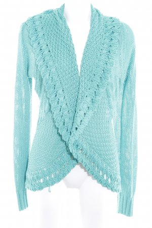 Biba Knitted Cardigan lime-green loosely knitted pattern casual look