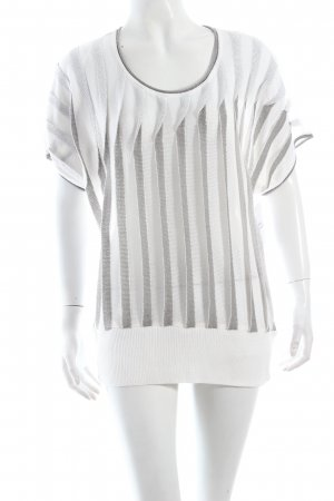 Biba Strickbekleidung weiß-silberfarben Glitzer-Optik