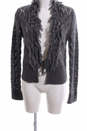Biba Cardigan light grey cable stitch casual look