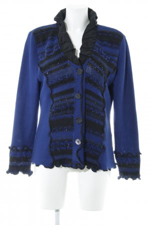 Biba Strickjacke blau-schwarz Streifenmuster Casual-Look