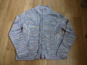 Biba Strickjacke, Gr. 1 36 hellblau Reißverschluss Cardigan Jacke Pulli