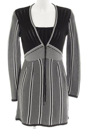 Biba Vestido tejido negro-blanco modelo de punto flojo look casual