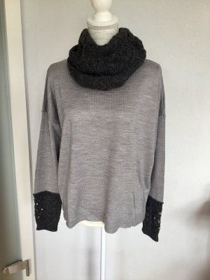 Biba Knitted Sweater light grey-anthracite