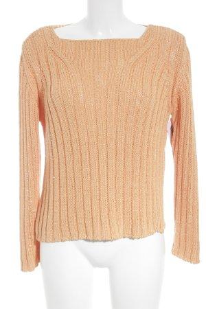 Biba Maglione lavorato a maglia albicocca stile casual